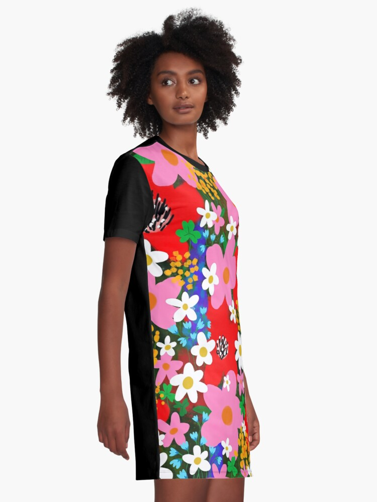 Alternate view of Flower Power! Graphic T-Shirt Dress