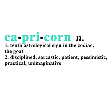 Zodiac Definitions: Capricorn by athee-fille