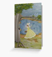 """Swinging Lady"" Greeting Card"