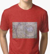 Section through an ammonite Tri-blend T-Shirt