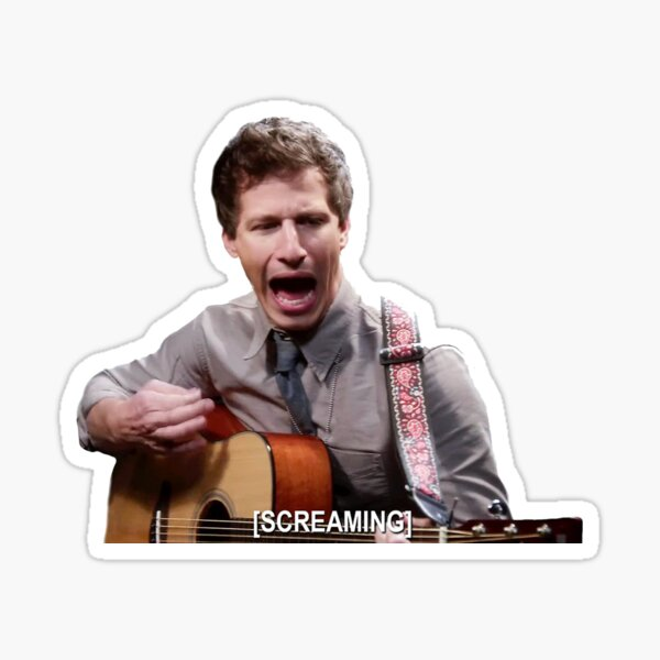 Jake Screaming B99 Sticker