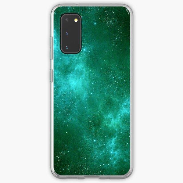 Deep Space Galaxy Cyan iPhone & Samsung Phone Case Samsung Galaxy Soft Case