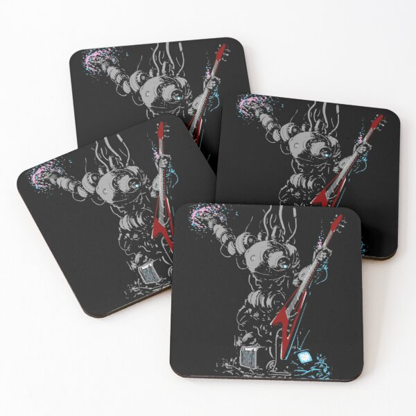 Rock 'n' Roll Robo Bard Coasters (Set of 4)