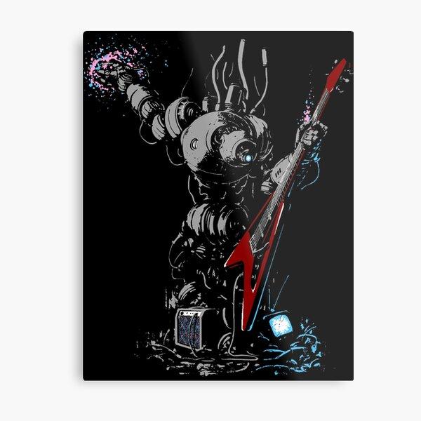 Rock 'n' Roll Robo Bard Metal Print