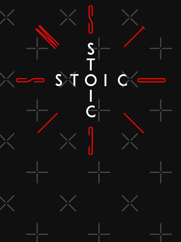 Stoic Word Cross - Stoic and Stoicism Text in a Cross Circle v2 by StoicMagic
