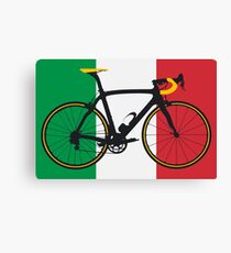 Bike Flag Italy (Big - Highlight) Canvas Print