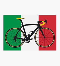 Bike Flag Italy (Big - Highlight) Photographic Print