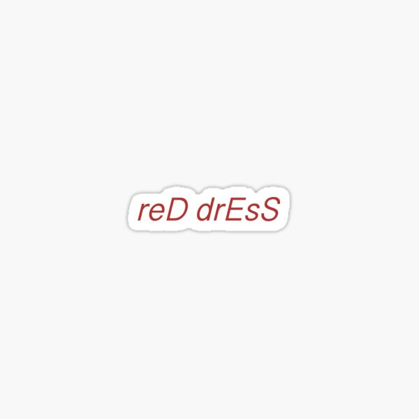 Red Dress Nick Jonas Sticker