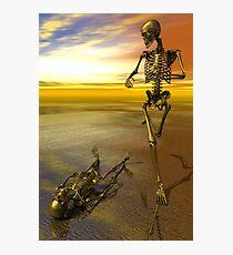 Running Skeleton Photographic Print