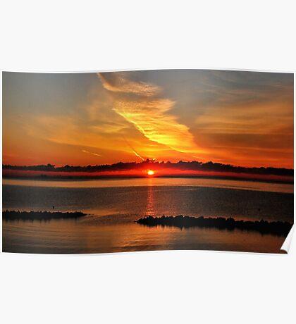 Baltic Sea summer morning sunrise Poster