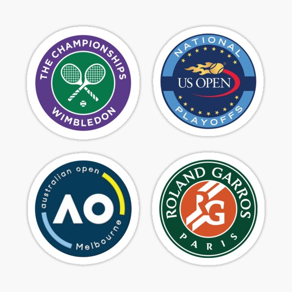 4 in 1 Grand Slam Circles Sticker