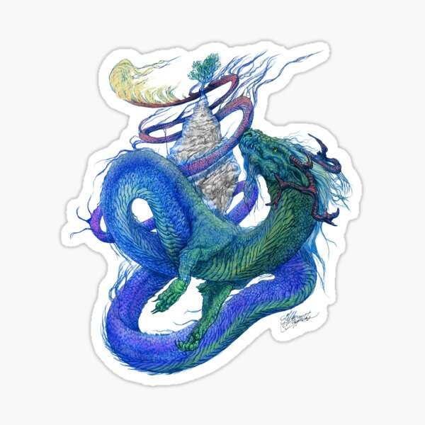 Colorful Dragon Wrapping Sticker