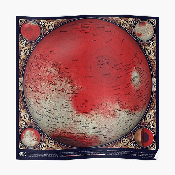 A Map of Mars Poster
