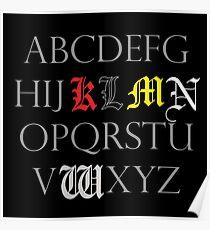 Death Note Alphabet Poster