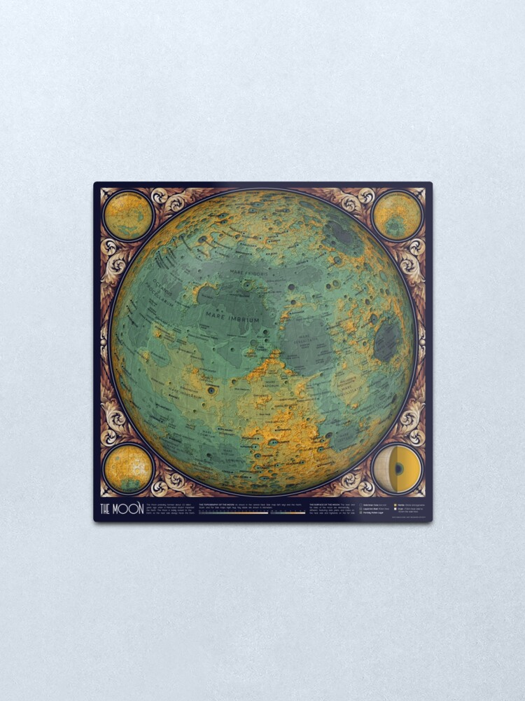 Alternate view of A Map of the Moon Metal Print