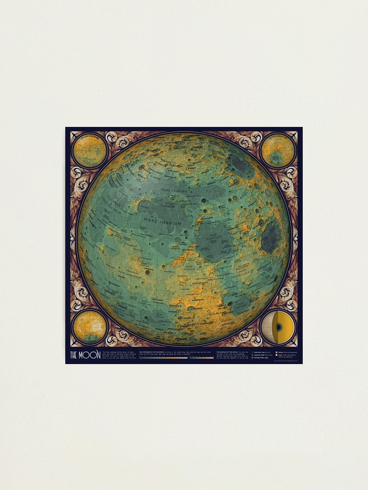 Alternate view of A Map of the Moon Photographic Print
