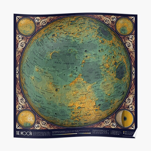 A Map of the Moon Poster