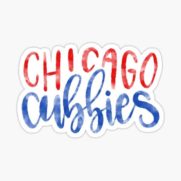 Watercolor Chicago Cubbies Sticker