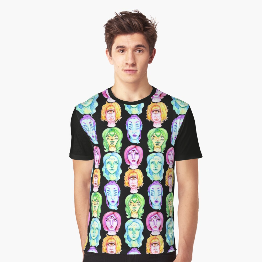 Rainbow of Beautiful Monsters Graphic T-Shirt