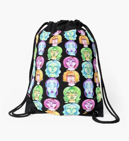 Rainbow of Beautiful Monsters Drawstring Bag