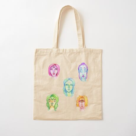 Rainbow of Beautiful Monsters Cotton Tote Bag