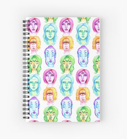 Rainbow of Beautiful Monsters Spiral Notebook