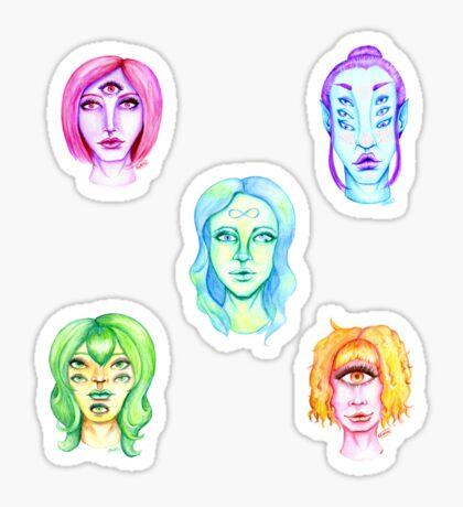 Rainbow of Beautiful Monsters Glossy Sticker