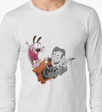 Camiseta de manga larga TV estática
