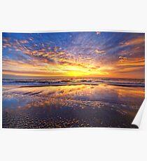 Mirror Sunset Callantsoog Poster