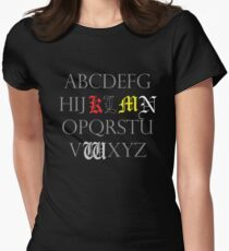 Death Note Alphabet Women's Fitted T-Shirt