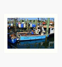 Small Fishing Trawler at Point Judith, RI [11] Art Print