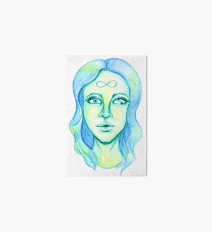 Blue Hair, Green Skin Art Board Print