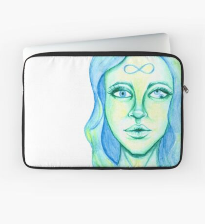 Blue Hair, Green Skin Laptop Sleeve