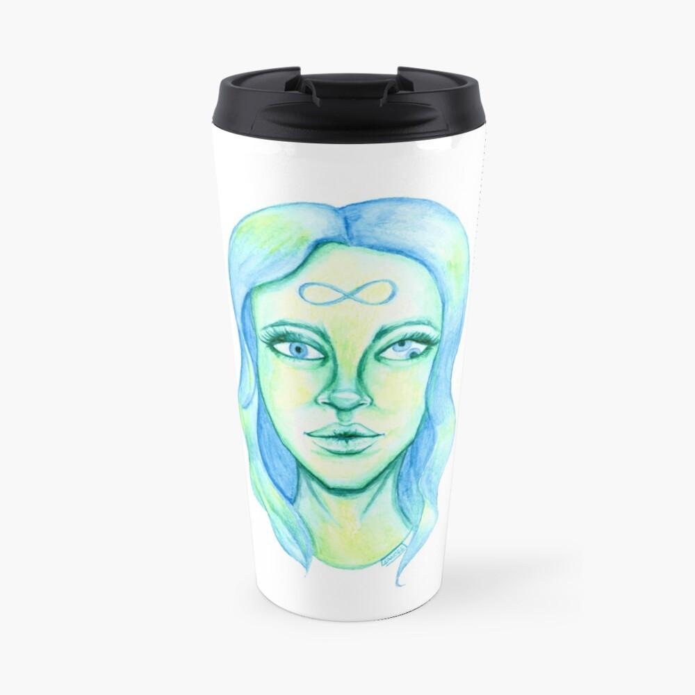 Blue Hair, Green Skin Travel Mug
