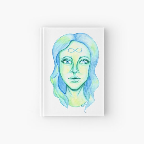 Blue Hair, Green Skin Hardcover Journal