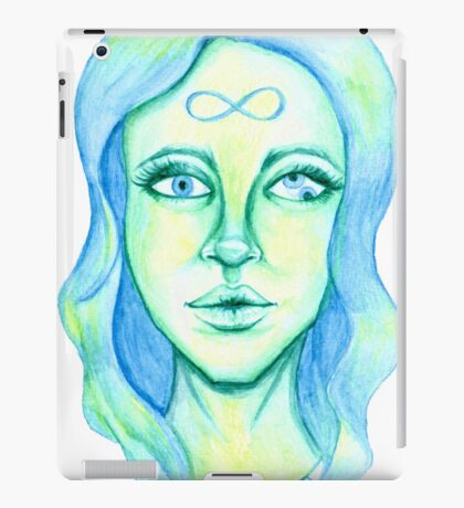 Blue Hair, Green Skin iPad Case/Skin