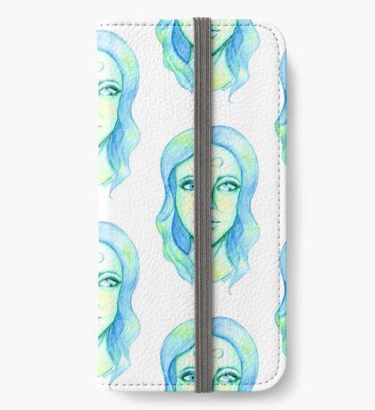 Blue Hair, Green Skin iPhone Wallet