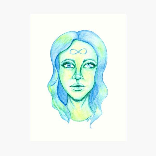 Blue Hair, Green Skin Art Print