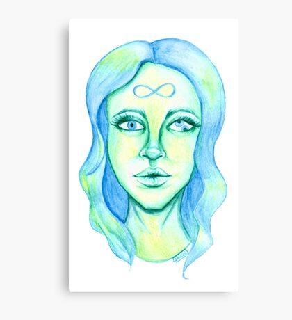 Blue Hair, Green Skin Canvas Print