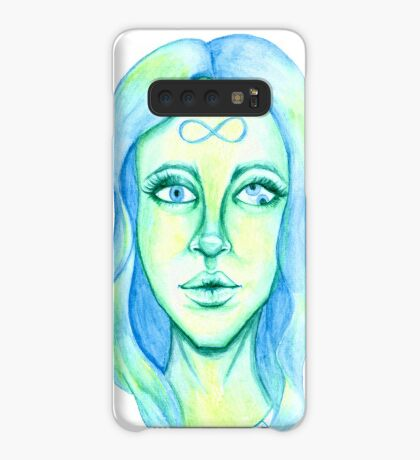 Blue Hair, Green Skin Case/Skin for Samsung Galaxy