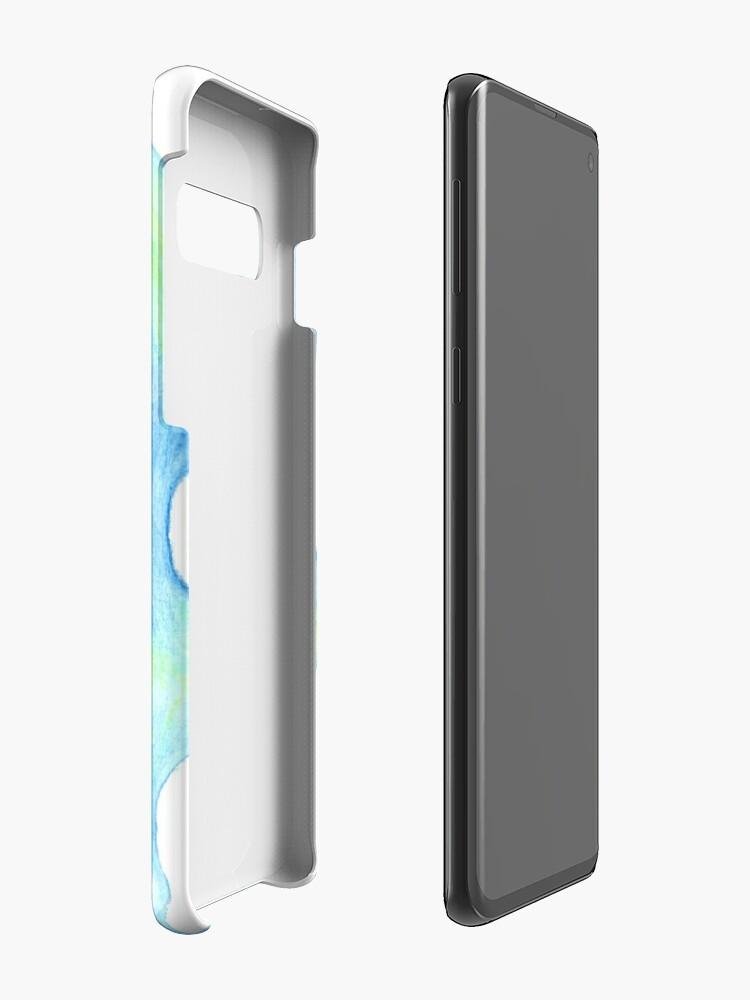 Alternate view of Blue Hair, Green Skin Case & Skin for Samsung Galaxy