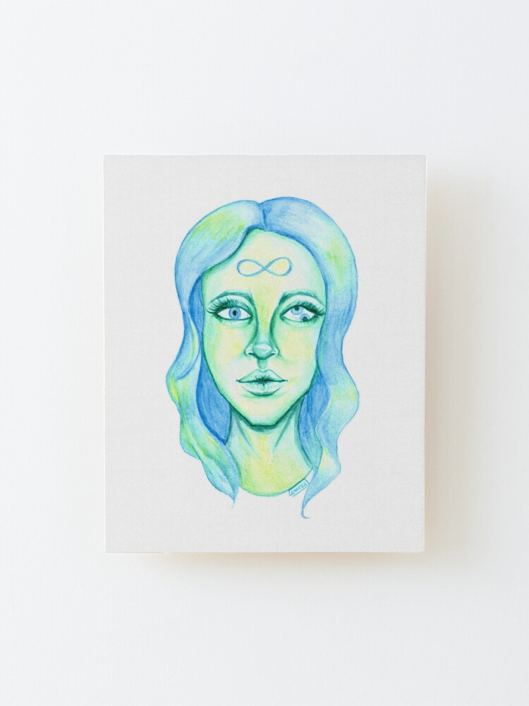 Alternate view of Blue Hair, Green Skin Mounted Print