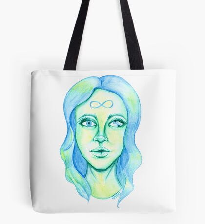 Blue Hair, Green Skin Tote Bag
