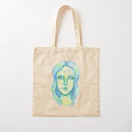 Blue Hair, Green Skin Cotton Tote Bag