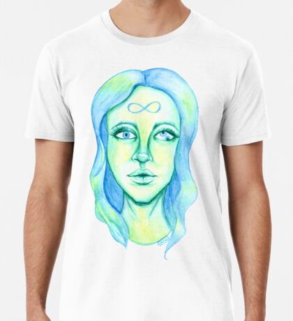 Blue Hair, Green Skin Premium T-Shirt