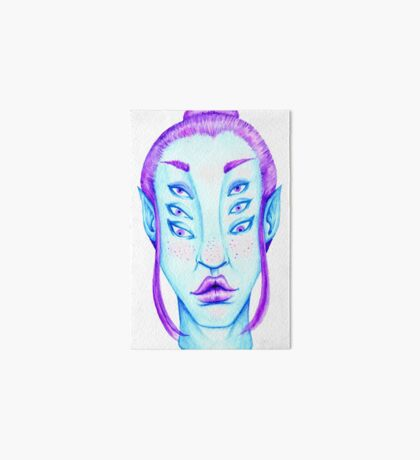 Purple Hair, Blue Skin Art Board Print