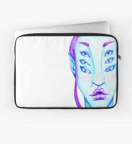 Purple Hair, Blue Skin Laptop Sleeve