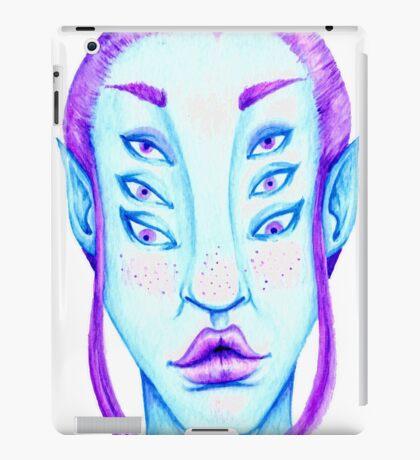 Purple Hair, Blue Skin iPad Case/Skin
