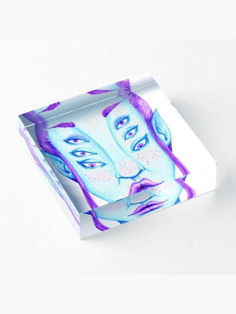 Alternate view of Purple Hair, Blue Skin Acrylic Block