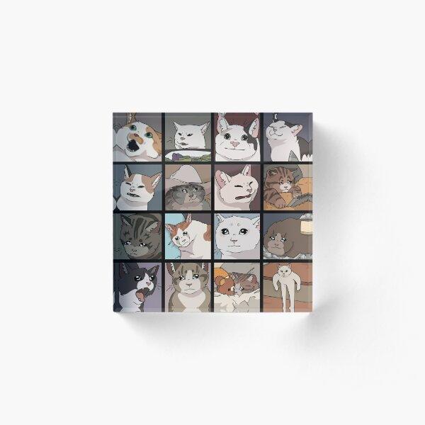 Meme Cats 2.0 Acrylic Block
